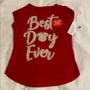 "NWT ""Best Day Ever"" sequins shirt"